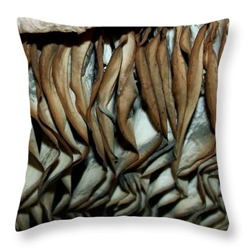 Mushroom Abstract Throw Pillow