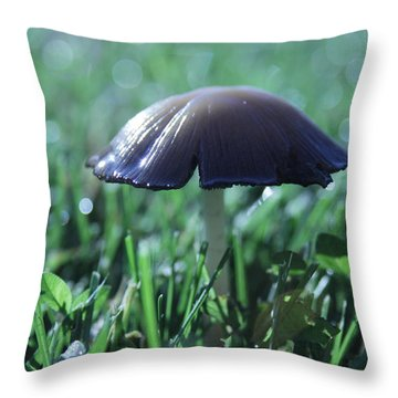 Mushroom In Morning Light Throw Pillow