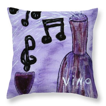 Music In My Glass Throw Pillow