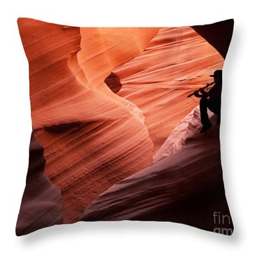 Music In The Canyon Throw Pillow