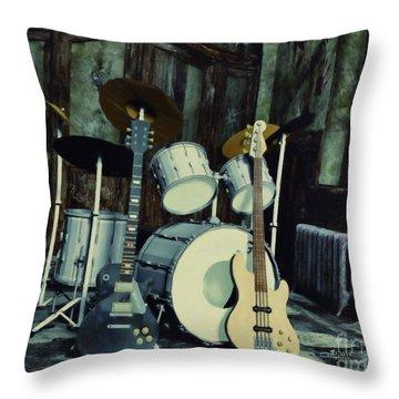 Music Is Everywhere Throw Pillow by Jutta Maria Pusl