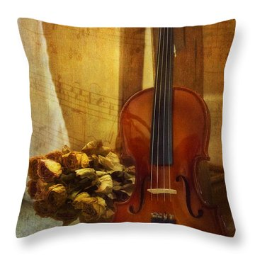 Throw Pillow featuring the photograph Music Is Love by John Rivera