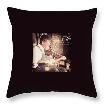 Fiddles Throw Pillows