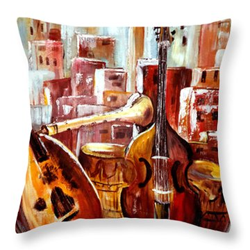 Music Of Morocco Throw Pillow