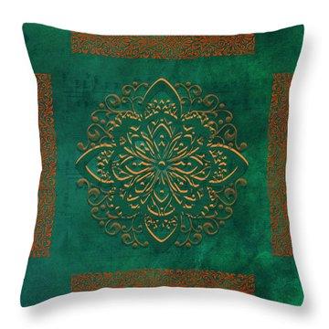 Musical Autumn Tile Throw Pillow by Bonnie Bruno