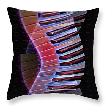 Musical Dna Throw Pillow by Bill Cannon