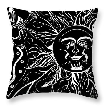 Musical Sunrise - Inverted Throw Pillow by Maria Urso