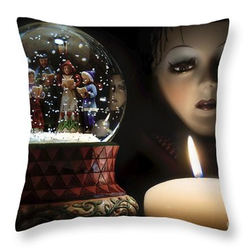 Muted Carol And Soul Throw Pillow by Rosa Cobos
