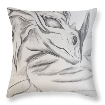 My Dragon Throw Pillow by Maria Urso