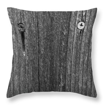 Throw Pillow featuring the photograph My Fence by Bill Owen