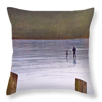 My First Walk On Water Throw Pillow