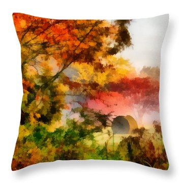My Front Yard Throw Pillow by Lynne Jenkins