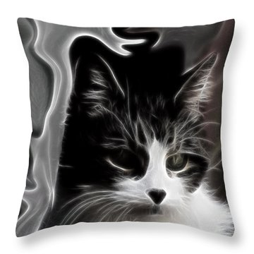 Throw Pillow featuring the digital art My Girl - Memories Of Cika by Maciek Froncisz