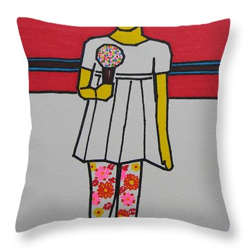 My Ice Cream  Throw Pillow