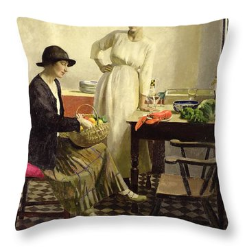 My Kitchen Throw Pillow by Harold Harvey