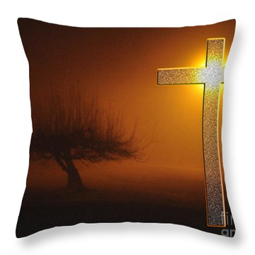 Throw Pillow featuring the photograph My Life In God's Hands 3 To 4 Ration by Clayton Bruster