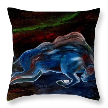Throw Pillow featuring the painting My Love Begins by Amy Sorrell