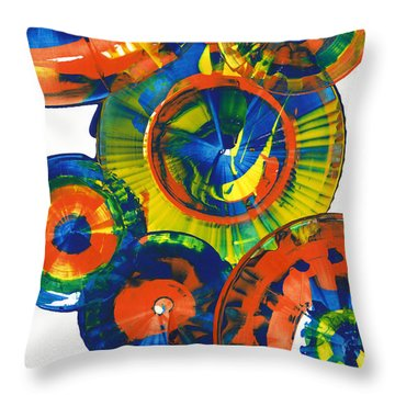 My Magical Spheres    859.121811 Throw Pillow by Kris Haas