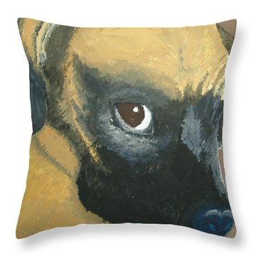 Throw Pillow featuring the painting My Name Is Attitude by Norm Starks