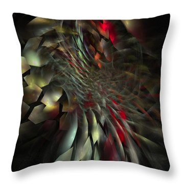 Throw Pillow featuring the digital art My Own Way To Burn by NirvanaBlues
