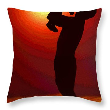 My Son And His Son Throw Pillow