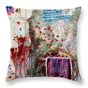 My Stage Throw Pillow by Sandy McIntire