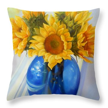 My Sunflowers Throw Pillow