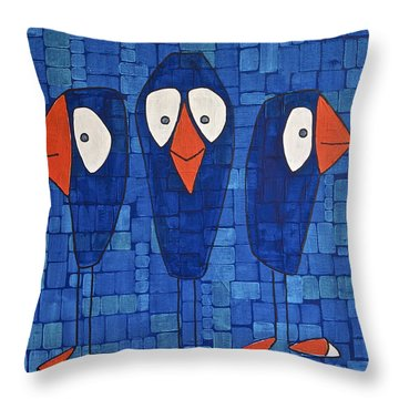 My Three Birds Throw Pillow