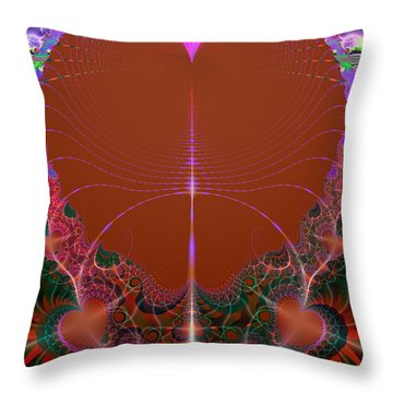 Throw Pillow featuring the digital art My Valentine by Ester  Rogers