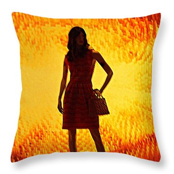 My Vegas Caesars 20 Throw Pillow by Randall Weidner