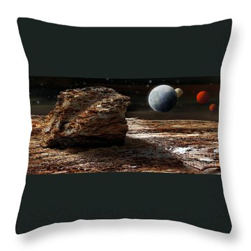 My View From Mars 2 Throw Pillow by Kaye Menner