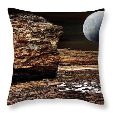 My View From Mars Throw Pillow by Kaye Menner