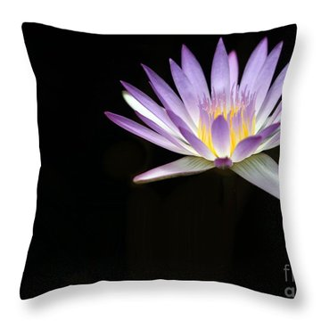 Mysterious Water Lily Throw Pillow by Sabrina L Ryan