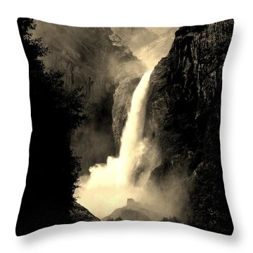 Mystery Falls Throw Pillow