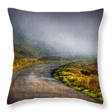 Mystery Road  Throw Pillow by Svetlana Sewell