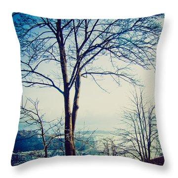 Mystic Blue Throw Pillow by Sara Frank