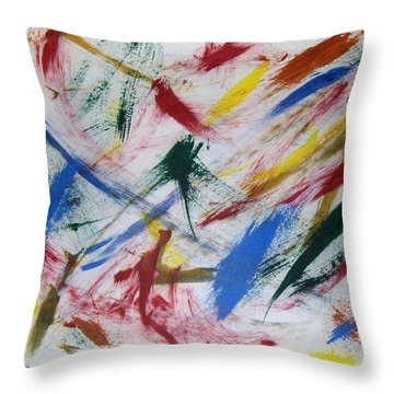 Mystic Colors Throw Pillow by M and L Creations Craft Boutique