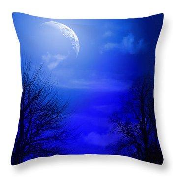 Mystic Night Throw Pillow by Mark Ashkenazi