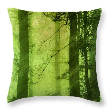 Mystical Glade Throw Pillow by Judi Bagwell