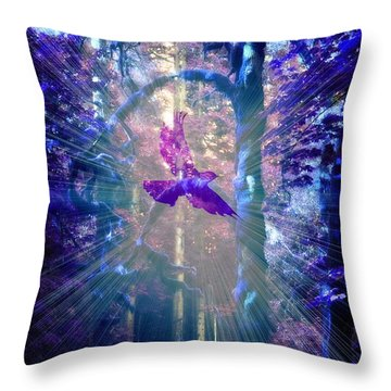 Mystical Wings Throw Pillow