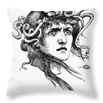 Mythology: Medusa Throw Pillow by Granger