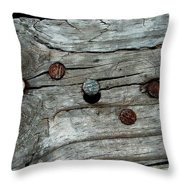 Nails Throw Pillow