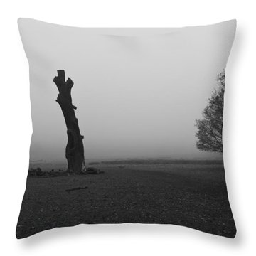 Throw Pillow featuring the photograph Naked Tree by Maj Seda