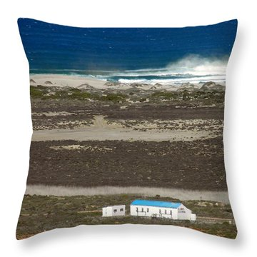 Throw Pillow featuring the photograph Namaqualand Farm by Werner Lehmann