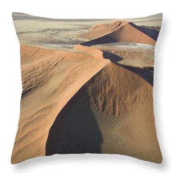 Namib Desert Throw Pillow by Unknown