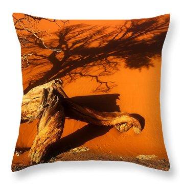 Namibia 2 Throw Pillow by Mauro Celotti