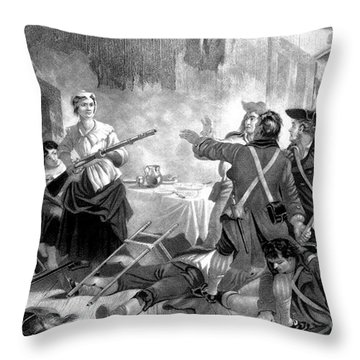 Nancy Hart, American Patriot Throw Pillow by Science Source