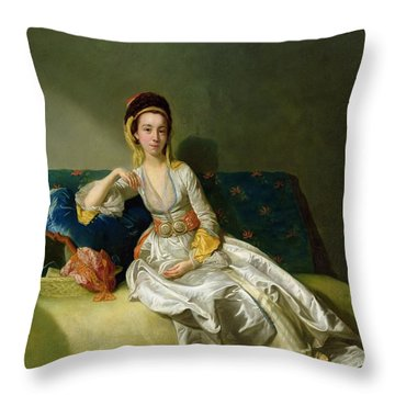 Nancy Parsons In Turkish Dress Throw Pillow by George Willison