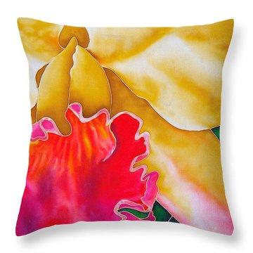 Nancy Smith Orchid Throw Pillow by Daniel Jean-Baptiste