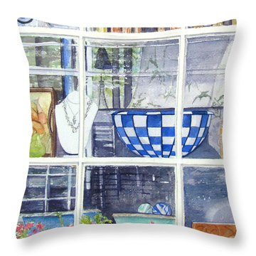 Nantucket Shop-lecherche Midi Throw Pillow by Carol Flagg
